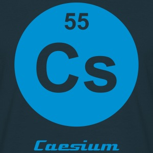 Element 55 - cs (caesium) - Minimal-inverse T-shirts - Mannen T-shirt