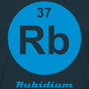 Element 37 - rb (rubidium) - Minimal-inverse T-shirts - Herre-T-shirt