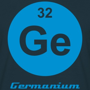 Element 32 - ge (germanium) - Minimal-inverse T-shirts - T-shirt herr