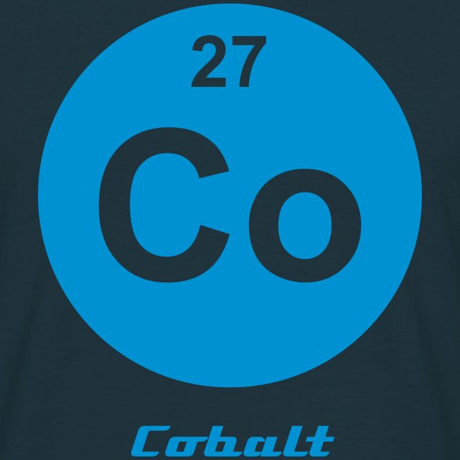 Periodic Table Words Cobalt Co Element 27 Minimal Round