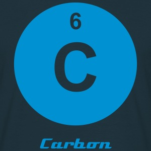 Element 6 - c (carbon) - Minimal-inverse T-shirts - Herre-T-shirt