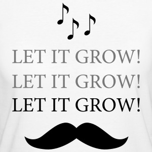 Moustache- Let It Grow - Karaoke T-skjorter - Økologisk T-skjorte for kvinner