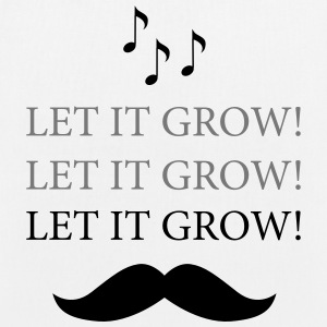 Moustache- Let It Grow - Karaoke Bags & backpacks - EarthPositive Tote Bag