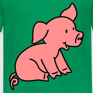 Happy Little Pig - Premium-T-shirt barn