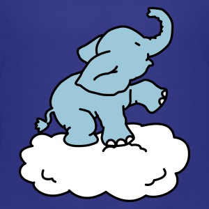 Happy Little Elephant on a cloud - Premium T-skjorte for barn