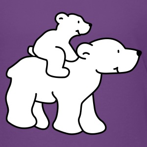 Happy Little Polar Bears - Premium-T-shirt barn