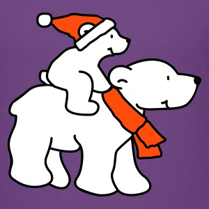 Happy Little Christmas Polar Bears - Premium-T-shirt barn