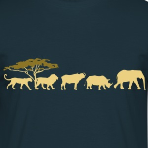 Big Five in de savanne  T-shirts - Mannen T-shirt