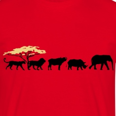 Big Five in the savanna  T-Shirts