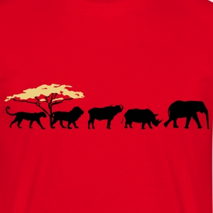 Big Five i savannen  T-shirts - Herre-T-shirt