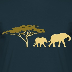 Elephants in the savannah  T-Shirts - Men's T-Shirt