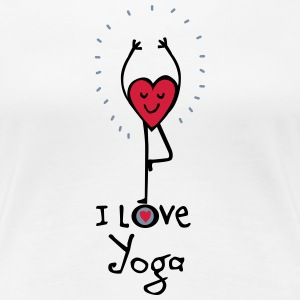 LOVEshirt I love Yoga  - Frauen Premium T-Shirt