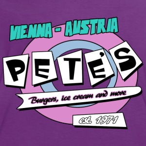 Pete´s Cafe - Frauen Kontrast-T-Shirt