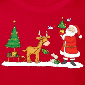Santa Claus with Reindeer - Kids' Organic T-shirt