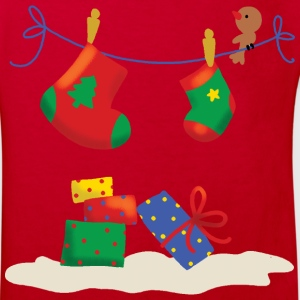 Christmas Stockings with presents - Kids' Organic T-shirt