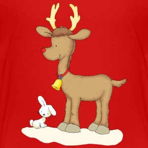 Rudolph with bunny - Premium T-skjorte for barn