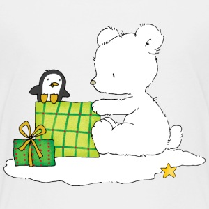 Christmas bear with penguin - Maglietta Premium per bambini