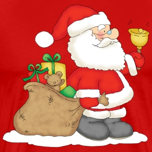 Santa Claus with bag of gifts - T-shirt Premium Homme