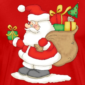 Santa Claus with bag of gifts - Premium-T-shirt herr
