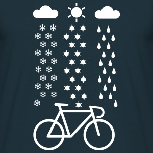 All Seasons Cyclist T-Shirts, Fahrrad T-Shirt - Männer T-Shirt