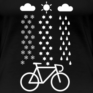 All Seasons Cyclist T-Shirts - Frauen Premium T-Shirt