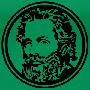 Herman Melville circled portrait t shirt - Women's Premium T-Shirt