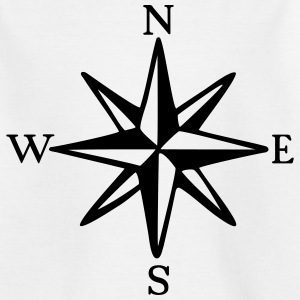 Compass Rose with Cardinal Points (monochrome) Shirts - Kids' T-Shirt