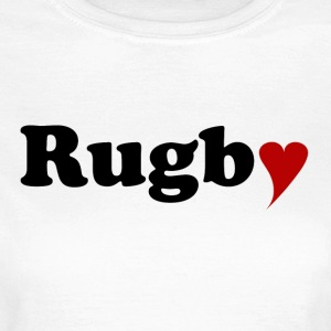 Rugby with Heart - Frauen T-Shirt