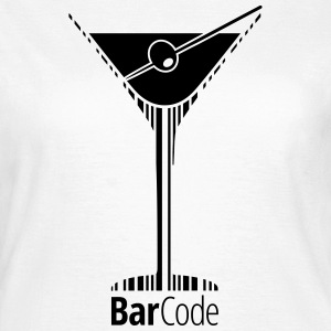 Barcode Martini - Frauen T-Shirt
