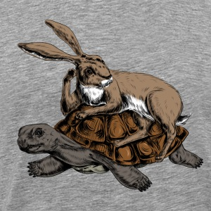 Hare and Tortoise T-Shirts - Men's Premium T-Shirt