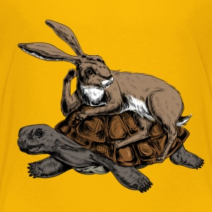 Hare and Tortoise T-Shirts - Kinder Premium T-Shirt