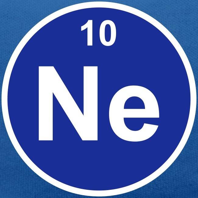 Periodic Table Words Neon Ne Element 10 Minimal Round 2 Col