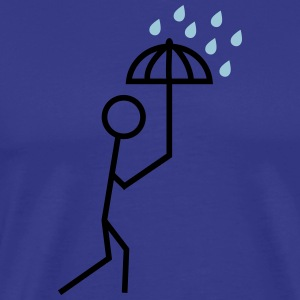 man in the rain with umbrella man in de regen met paraplu T-shirts - Mannen Premium T-shirt
