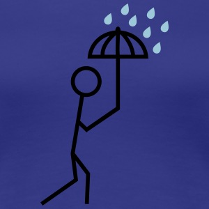 man in the rain with umbrella mannen i regnet med paraply T-shirts - Premium-T-shirt dam