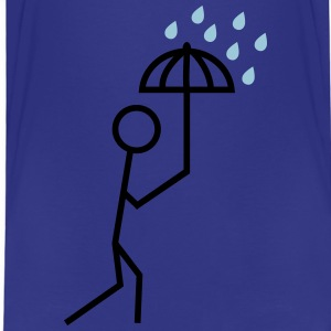 man in the rain with umbrella mannen i regnet med paraply T-shirts - Premium-T-shirt barn