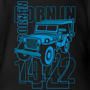 altgedienter Jeep - Born in 1942 Tee shirts - Body bébé bio manches courtes