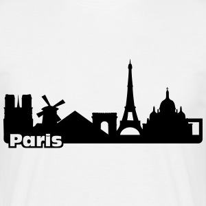 Paris Skyline T-shirts - Mannen T-shirt