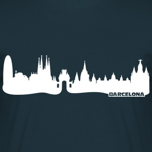 Barcelona Skyline T-Shirts - Men's T-Shirt