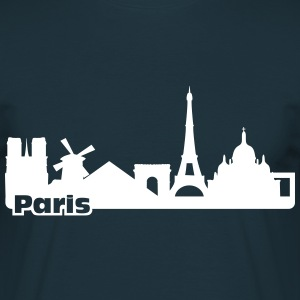 Paris Skyline Tee shirts - T-shirt Homme