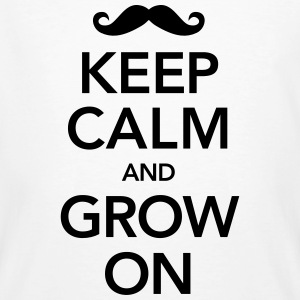 Keep Calm And Grow On T-Shirts - Männer Bio-T-Shirt