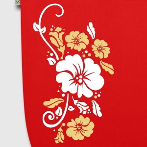 Red floral Bags  - EarthPositive Tote Bag