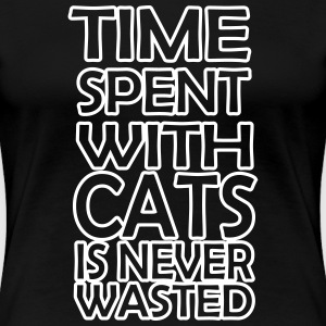 time spent with cats - Frauen Premium T-Shirt