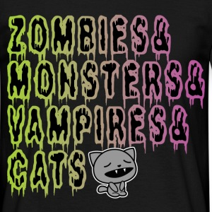 zombies...cats Tee shirts - T-shirt Homme
