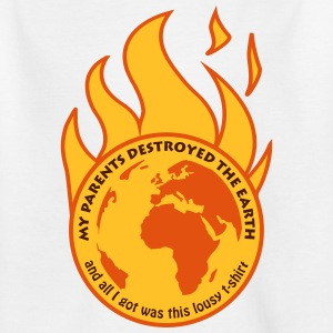 My parents destroyed the Earth Shirts - Teenage T-shirt