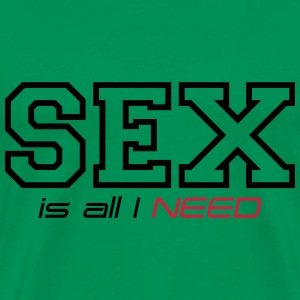 sex is all i need T-Shirts - Men's Premium T-Shirt