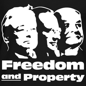 Freedom and Property T-Shirts - Männer Kontrast-T-Shirt