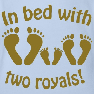 In bed with two royals, Royal Baby, Royal Body Shirts - Organic Short-sleeved Baby Bodysuit