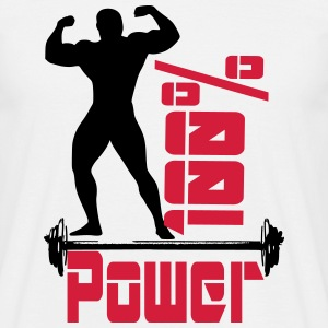 Bodybuilding power - Männer T-Shirt