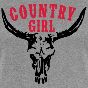 COUNTRY GIRL BULLSKULL T-Shirts - Frauen Premium T-Shirt