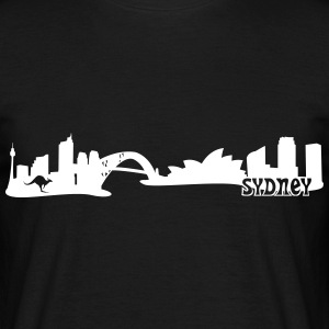Sydney Skyline T-Shirts - Men's T-Shirt